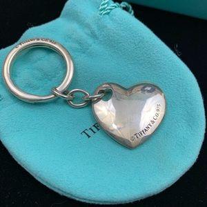 RARE Double hearts Tiffany & Co Keychain 925